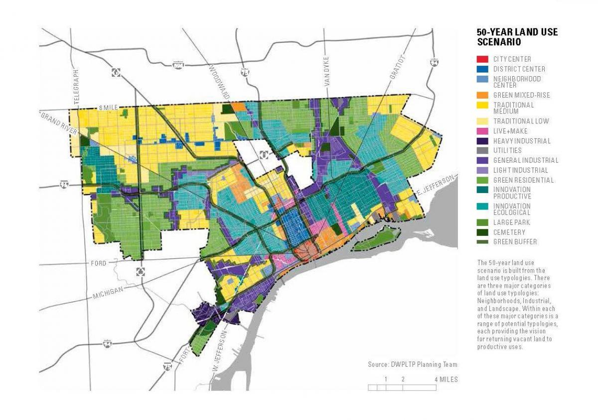 Detroit Edificis Abandonats Mapa Mapa De Detroit Edificis - Mapa de michigan